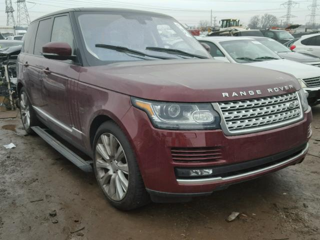 Sold 2016 LAND ROVER RANGEROVER salvage car